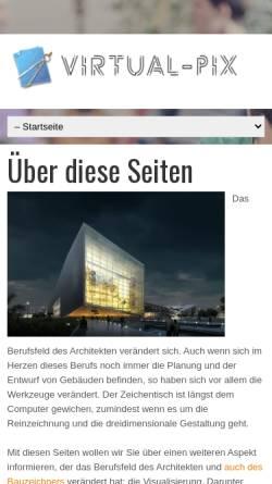 Vorschau der mobilen Webseite www.virtual-pix.de, Virtual-Pix GmbH