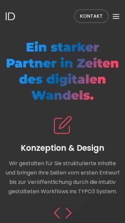 Vorschau der mobilen Webseite www.ingeniumdesign.de, Ingeniumdesign, Sebastian Schmal