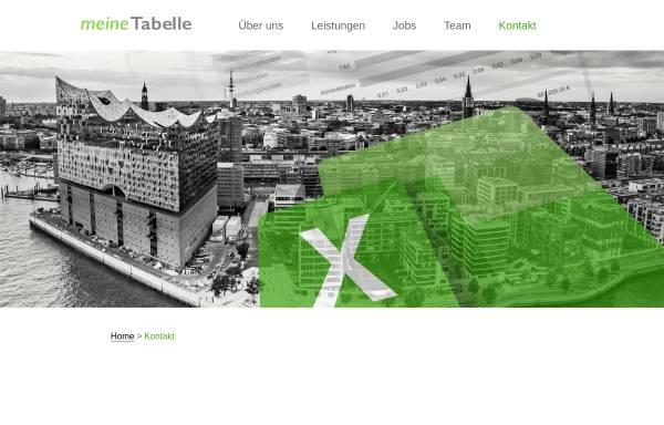 Vorschau von meine-tabelle.de, meineTabelle Software und Beratung GmbH & Co. KG