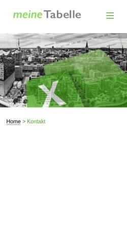 Vorschau der mobilen Webseite meine-tabelle.de, meineTabelle Software und Beratung GmbH & Co. KG