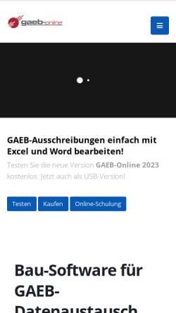 Vorschau der mobilen Webseite www.excel-vergleich.de, WCT Excel-Vergleich