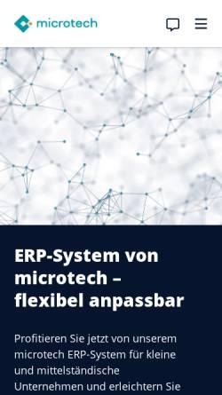 Vorschau der mobilen Webseite www.microtech.de, microtech GmbH