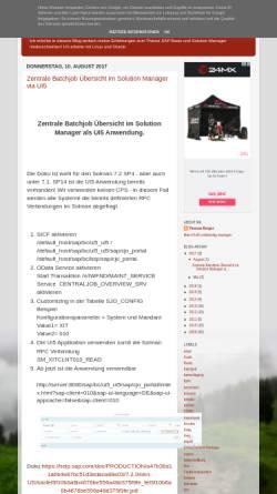 Vorschau der mobilen Webseite desapbasis.blogspot.de, Blog: SAP Basis und Solution Manager