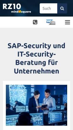 Vorschau der mobilen Webseite rz10.de, Blog: RZ10.de - SAP Basis und Security