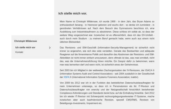 Vorschau von www.wildensee.de, Christoph Wildensee