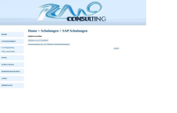 Vorschau von www.rcmoconsulting.de, Schulungsunterlagen Tabellen und Tabellenbeziehungen in SAP