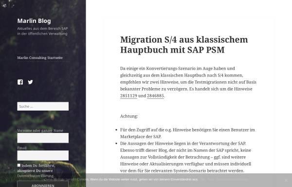 Vorschau von psm.marlinconsulting.de, Blog: Marlin Blog - SAP im öffentlichen Sektor