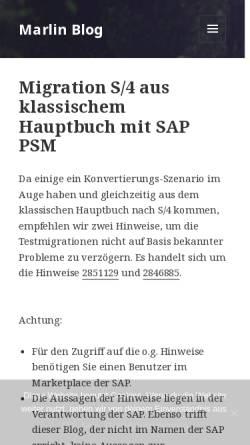 Vorschau der mobilen Webseite psm.marlinconsulting.de, Blog: Marlin Blog - SAP im öffentlichen Sektor