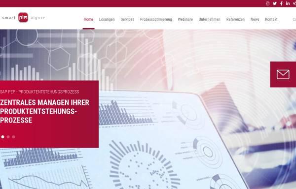Vorschau von www.smart-plm.com, smart-plm Aigner GmbH & Co. KG