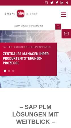 Vorschau der mobilen Webseite www.smart-plm.com, smart-plm Aigner GmbH & Co. KG