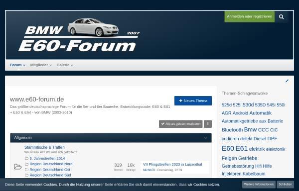 e60-forum: 5er serie, bmw e60-forum.de