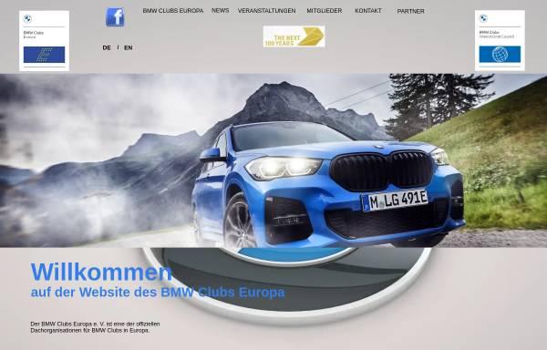 Vorschau von www.bmw-clubs-europa.org, BMW Clubs Europa e.V.