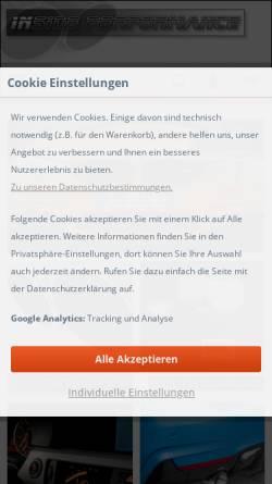 Vorschau der mobilen Webseite www.insideperformance.de, insidePerformance
