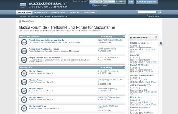 Vorschau von www.mazdaforum.de, Mazda-Forum.de