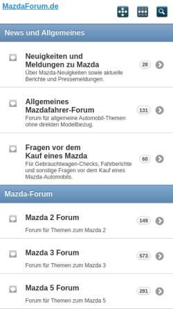 Vorschau der mobilen Webseite www.mazdaforum.de, Mazda-Forum.de