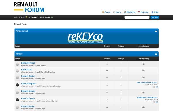 Vorschau von www.renaultforum.ch, Renault Forum Schweiz