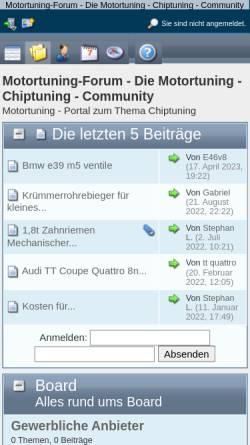 Vorschau der mobilen Webseite www.motortuning-forum.de, Motortuning-forum.de