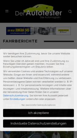 Vorschau der mobilen Webseite der-autotester.de, Der-Autotester.de