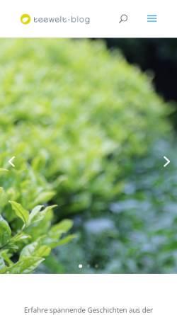 Vorschau der mobilen Webseite www.teewelt-blog.de, Teewelt