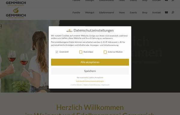 Vorschau von www.gemmrich.de, Weingut Gemmrich