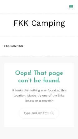 Vorschau der mobilen Webseite www.fkk-camping.org, FKK-Camping