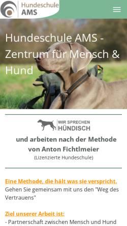 Vorschau der mobilen Webseite www.hundeschule-ams.de, Andreas Stieb - Hundeschule AMS