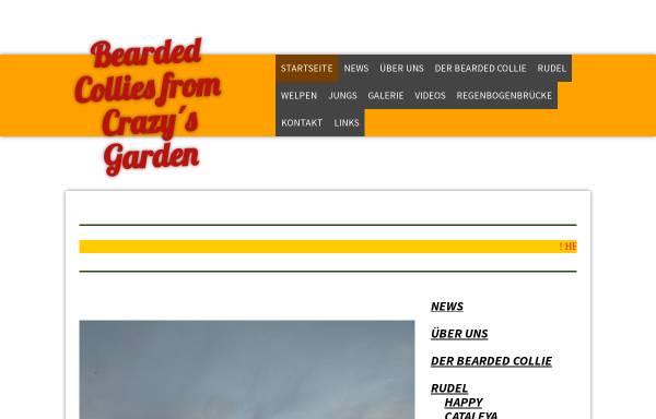 Vorschau von www.beardedcollies-crazysgarden.de, From Crazy´s Garden
