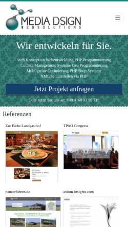 Vorschau der mobilen Webseite www.media-dsign.de, Hendrik Meyer Media Dsign