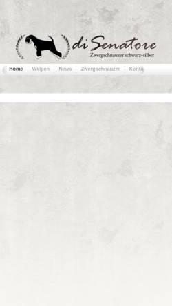 Vorschau der mobilen Webseite www.zwergpinscher-zuechter.de, Di Senatore