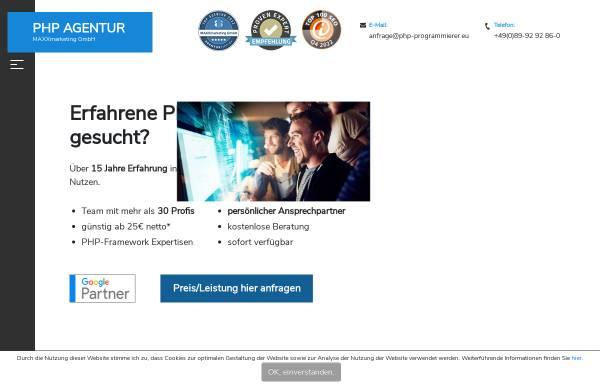 Vorschau von www.php-programmierer.eu, Maxx Marketing GmbH