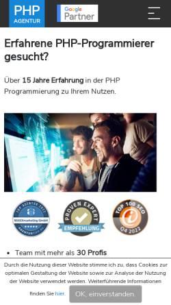 Vorschau der mobilen Webseite www.php-programmierer.eu, Maxx Marketing GmbH