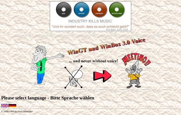 Vorschau von www.wingt.de, WinGT / WinBox