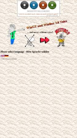 Vorschau der mobilen Webseite www.wingt.de, WinGT / WinBox