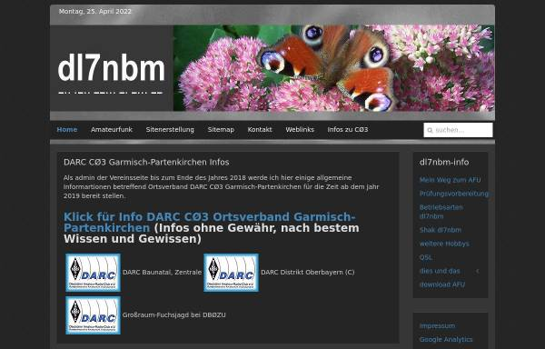 Vorschau von dl7nbm.mittenwald-ferienzeit.de, DL7NBM