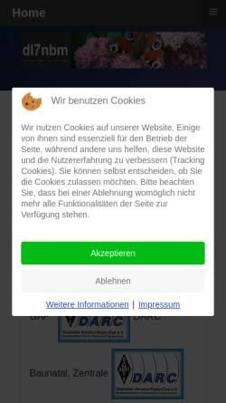 Vorschau der mobilen Webseite dl7nbm.mittenwald-ferienzeit.de, DL7NBM