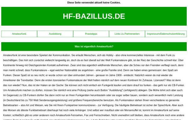 Vorschau von www.hf-bazillus.de, HF-Bazillus.de - Fast alles rund ums Funken