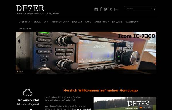 Vorschau von www.df7er.de, DO8ER - DN7ML German Amateur Radio Station