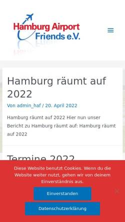 Vorschau der mobilen Webseite www.hamburg-airport-friends.de, hamburg-airport-friends.de