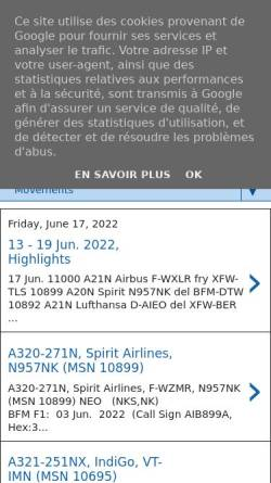 Vorschau der mobilen Webseite xfw-spotter.blogspot.com, xfw-spotter.blogspot.com