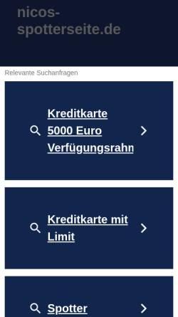 Vorschau der mobilen Webseite www.nicos-spotterseite.de, Nico`s Spotterseite