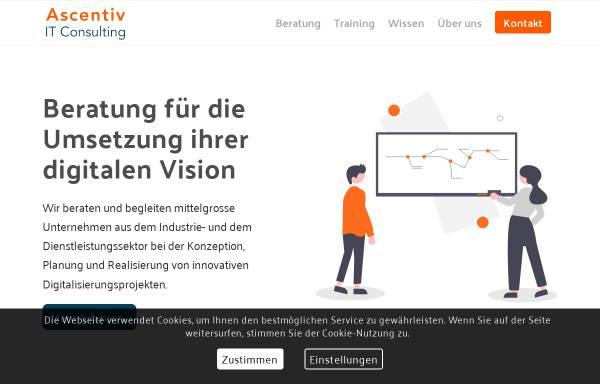 Vorschau von www.ascentiv.ch, Ascentiv - Software Development Services