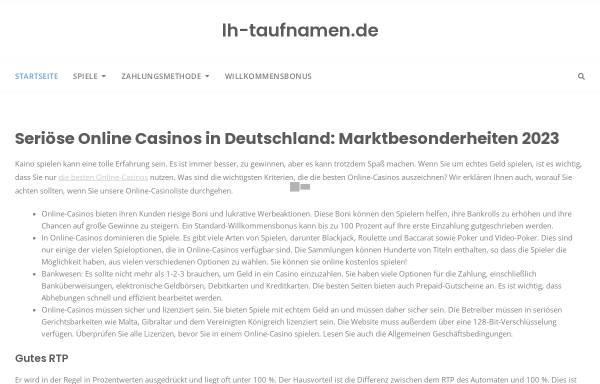 Vorschau von www.lh-taufnamen.de, Lufthansa Taufnamen