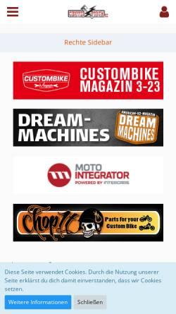 Vorschau der mobilen Webseite chopperforum.de, Chopperforum