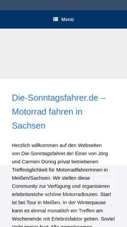 Vorschau der mobilen Webseite www.die-sonntagsfahrer.de, Die-Sonntagsfahrer.de