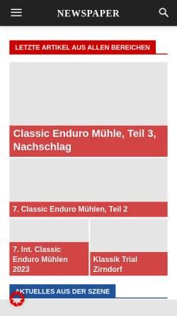 Vorschau der mobilen Webseite enduro-klassik.de, Enduro-Klassik.de