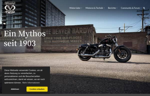 Vorschau von www.milwaukee-vtwin.de, Milwaukee V-Twin