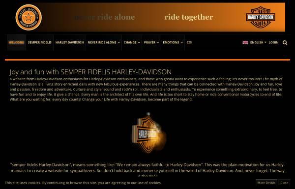 Vorschau von www.semperfihd.com, Semper Fidelis Harley Davidson