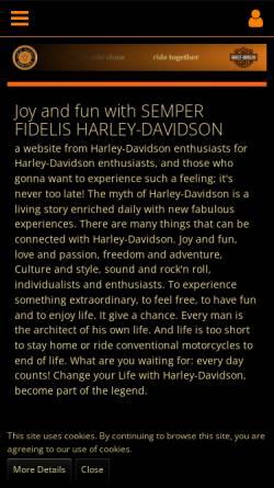 Vorschau der mobilen Webseite www.semperfihd.com, Semper Fidelis Harley Davidson