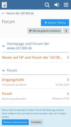 Vorschau der mobilen Webseite cb1300-forum.de, Forum der CB1300.de