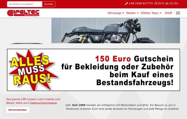 Vorschau von www.eifeltec.de, Royal Enfield Deutschland - EifelTec Team GmbH
